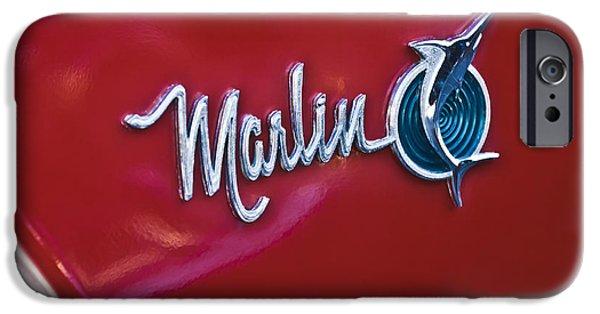 Marlin iPhone Cases - 1965 Rambler Marlin Emblem iPhone Case by Jill Reger