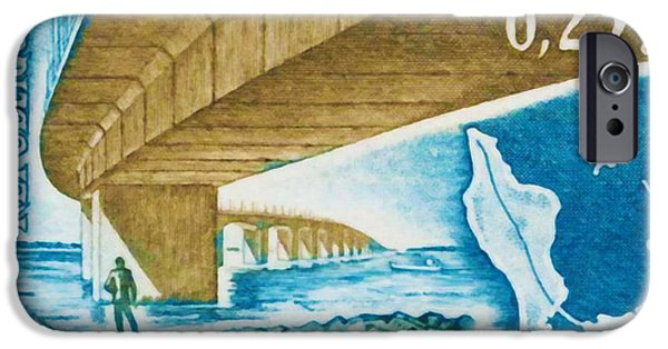 Inauguration Paintings iPhone Cases - 1966 Bridge Oleron iPhone Case by Lanjee Chee