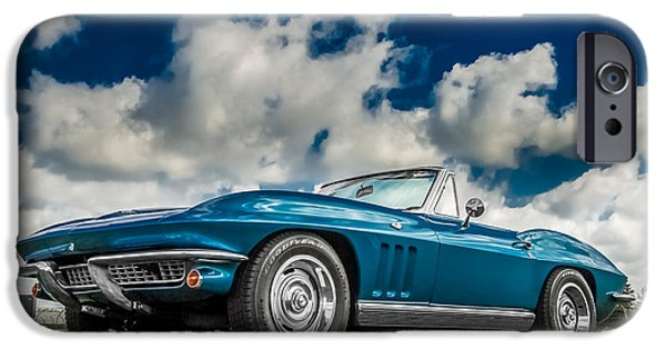 Indy Car iPhone Cases - 1966 Corvette Stingray  iPhone Case by Ron Pate
