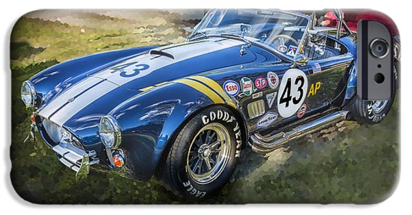 Carroll Shelby iPhone Cases - 1966 Ford AC Cobra 427 Big Block  iPhone Case by Rich Franco
