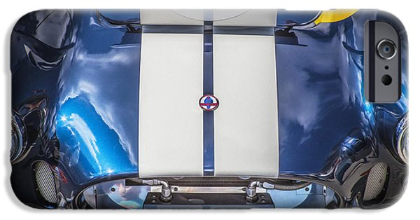 Carroll Shelby iPhone Cases - 1966 Ford AC Cobra 427 iPhone Case by Rich Franco