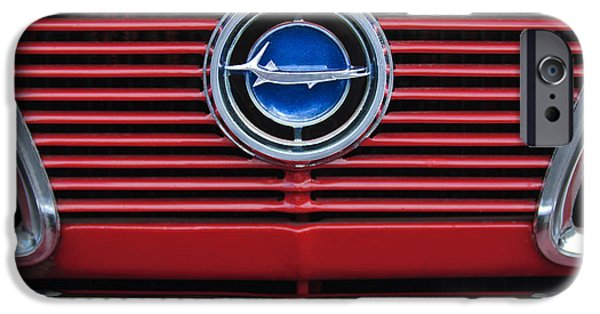 Plymouth iPhone Cases - 1966 Plymouth Barracuda - Cuda Grille Emblem iPhone Case by Jill Reger