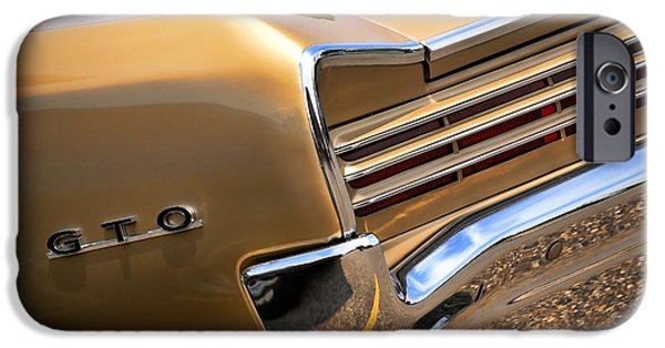Indy Car iPhone Cases - 1966 Pontiac GTO Tail iPhone Case by Gordon Dean II