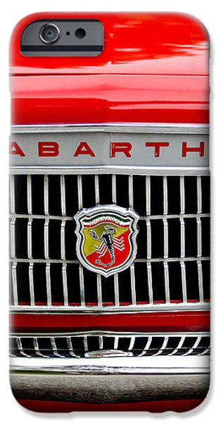 1967 Fiat Abarth 1000 OTR Grille iPhone Case by Jill Reger