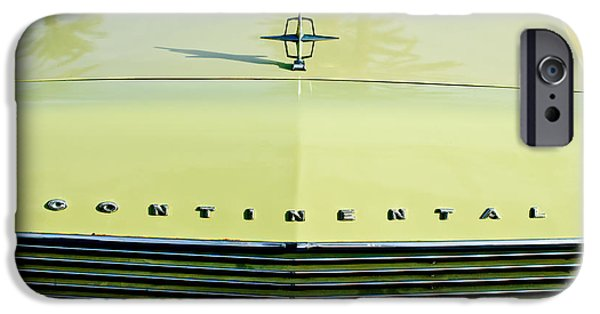 Lincoln iPhone Cases - 1967 Lincoln Continental Grille Emblem - Hood Ornament iPhone Case by Jill Reger