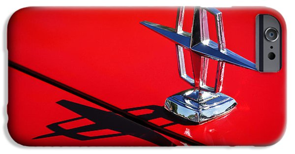 Lincoln iPhone Cases - 1967 Lincoln Continental Hood Ornament -1204c iPhone Case by Jill Reger