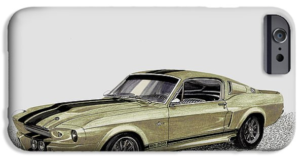 Custom Made iPhone Cases - 1967 Shelby Mustang Eleanor Go Baby Go iPhone Case by Jack Pumphrey