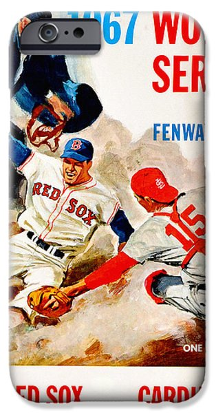 Boston Red Sox iPhone Cases - 1967 World Series Program iPhone Case by Big 88 Artworks
