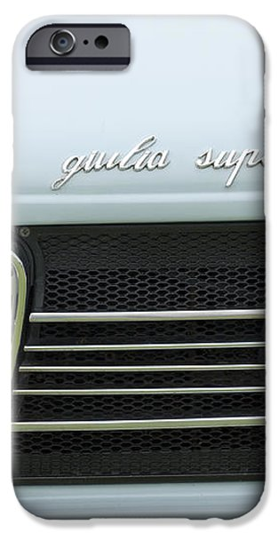 1968 Alfa Romeo Giulia Super Grille iPhone Case by Jill Reger