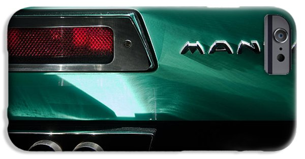 1968 iPhone Cases - 1968 Bizzarrini Manta Taillight Emblem iPhone Case by Jill Reger