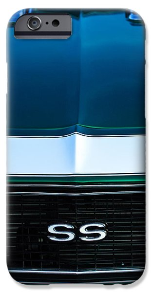 1968 iPhone Cases - 1968 Chevrolet Camaro SS Grille Emblem iPhone Case by Jill Reger