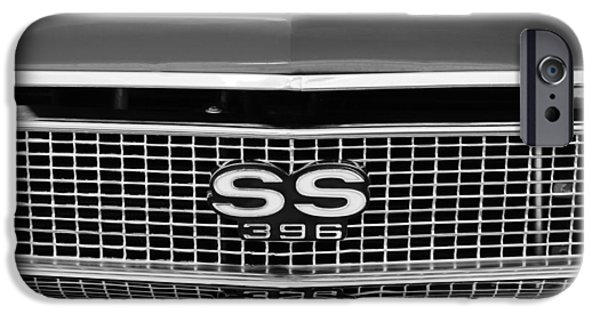 1968 iPhone Cases - 1968 Chevrolet Chevelle SS 396 Grille Emblem iPhone Case by Jill Reger