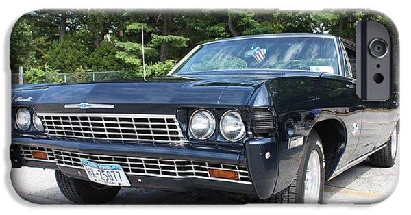 Automotive iPhone Cases - 1968 Chevrolet Impala Sedan iPhone Case by John Telfer
