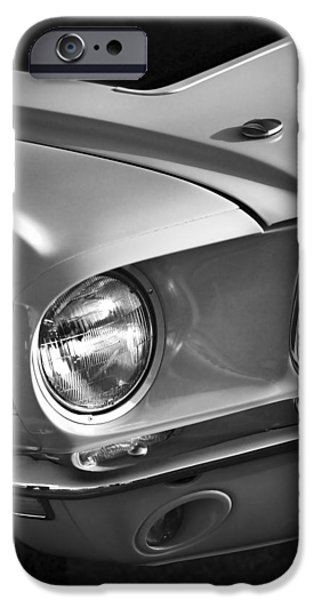 Autographed Digital Art iPhone Cases - 1968 Ford Mustang GT/CS iPhone Case by Gordon Dean II