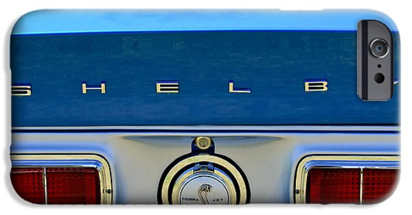 1968 iPhone Cases - 1968 Ford Shelby GT500 KR Convertible Rear Emblems iPhone Case by Jill Reger