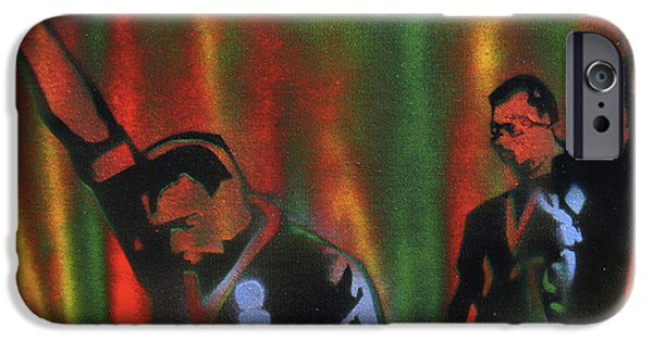 Conscious Paintings iPhone Cases - 1968 Olympics iPhone Case by Tony B Conscious