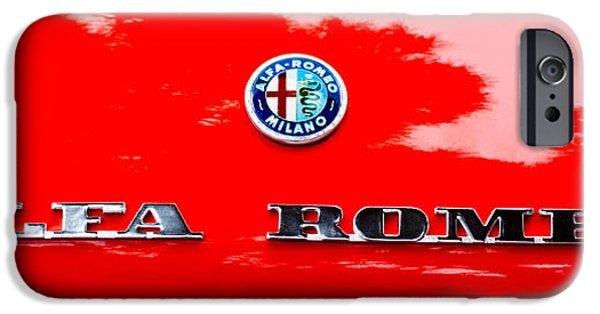Automotive iPhone Cases - 1969 Alfa Romeo Spider Veloce Iniezione Emblem iPhone Case by Jill Reger