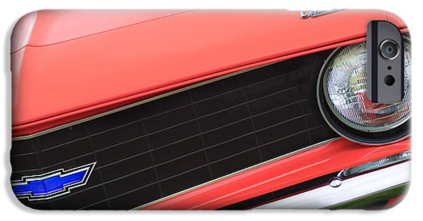 Replica iPhone Cases - 1969 Chevrolet Camaro Copo Replica Grille Emblems iPhone Case by Jill Reger