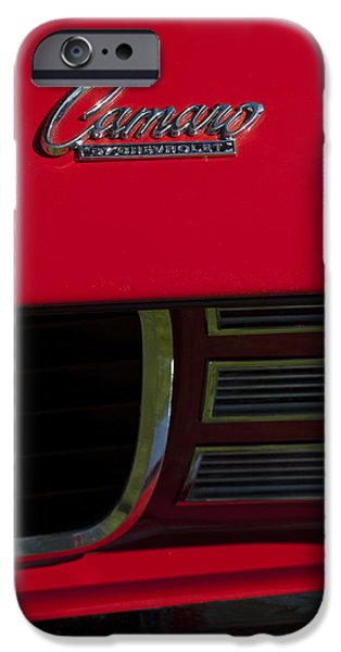 1969 Chevrolet Camaro Rally Sport Emblem iPhone Case by Jill Reger