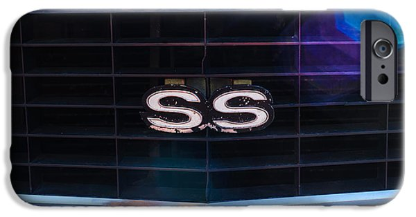 Indy Car iPhone Cases - 1969 Chevrolet Camaro RS-SS Indy Pace Car Replica Grille Emblem iPhone Case by Jill Reger
