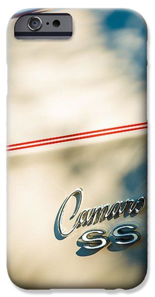 Indy Car iPhone Cases - 1969 Chevrolet Camaro RS-SS Indy Pace Car Replica Side Emblem iPhone Case by Jill Reger