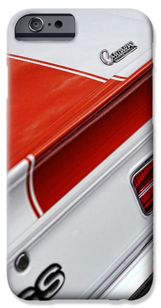 Indy Car iPhone Cases - 1969 Chevrolet Camaro SS Indianapolis 500 Pace Car Rear Shot iPhone Case by Gordon Dean II