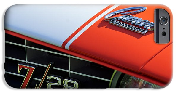 1969 iPhone Cases - 1969 Chevrolet Camaro Z-28 Emblem iPhone Case by Jill Reger