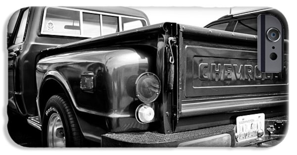 Monotone iPhone Cases - 1969 Chevrolet Pickup III iPhone Case by David Patterson