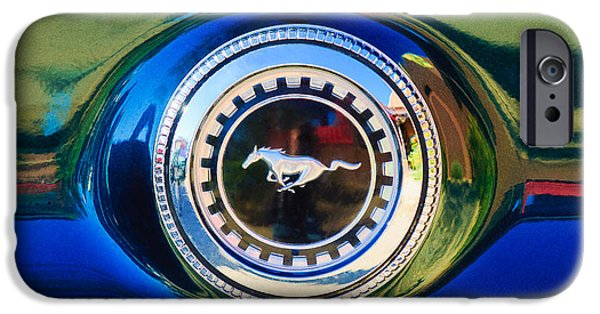 1969 iPhone Cases - 1969 Ford Mustang 302 Emblem iPhone Case by Jill Reger