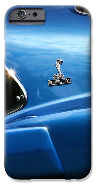 1964 Ford Emblem iPhone Cases - 1969 Ford Mustang GT500 Shelby Fastback iPhone Case by Gordon Dean II