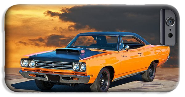 Slick iPhone Cases - 1969 Plymouth 440 6BL Roadrunner iPhone Case by Dave Koontz
