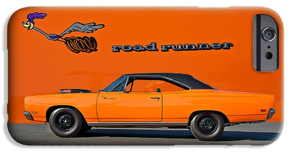 Road Runner iPhone Cases - 1969 Plymouth Road Runner iPhone Case by Dave Koontz