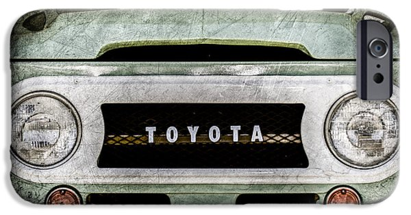 Cruiser iPhone Cases - 1969 Toyota FJ-40 Land Cruiser Grille Emblem -0444ac iPhone Case by Jill Reger