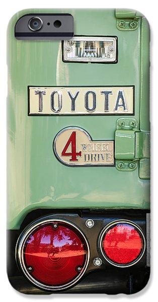 Cruiser iPhone Cases - 1969 Toyota FJ-40 Land Cruiser Taillight Emblem -0417c iPhone Case by Jill Reger
