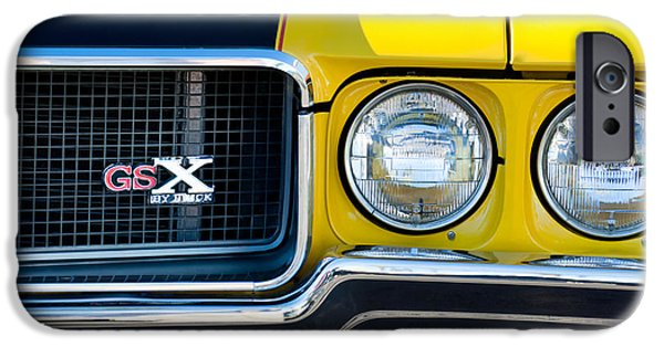 Hemi iPhone Cases - 1970 Buick GSX Grille Emblem iPhone Case by Jill Reger