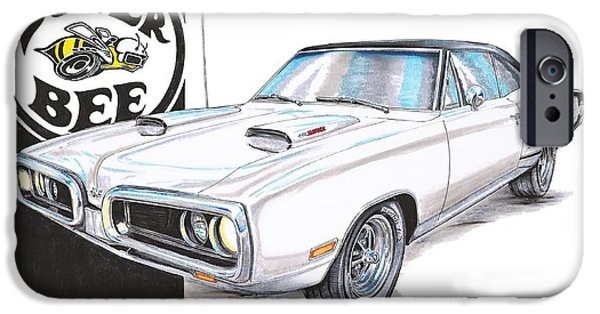 Super Bee iPhone Cases - 1970 Dodge Super Bee iPhone Case by Shannon Watts