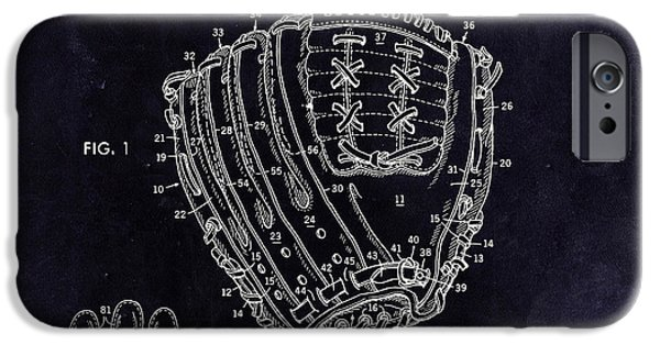 Baseball Glove iPhone Cases - 1971 Baseball Glove Patent Art Latina for Rawlings 3 iPhone Case by Nishanth Gopinathan