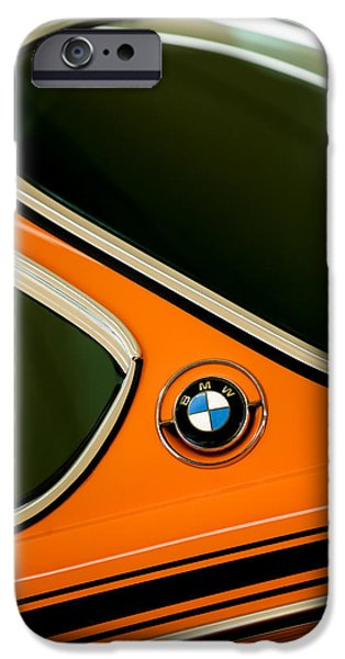Lightweight iPhone Cases - 1971 BMW 3.0CSL Lightweight Prototype - Side Emblem -0476c iPhone Case by Jill Reger