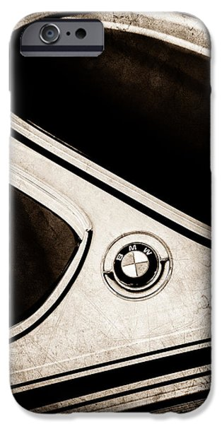Lightweight iPhone Cases - 1971 BMW 3.0CSL Lightweight Prototype - Side Emblem -0476s iPhone Case by Jill Reger