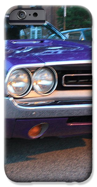 1971 Challenger Front and Side View iPhone Case by JOHN TELFER
