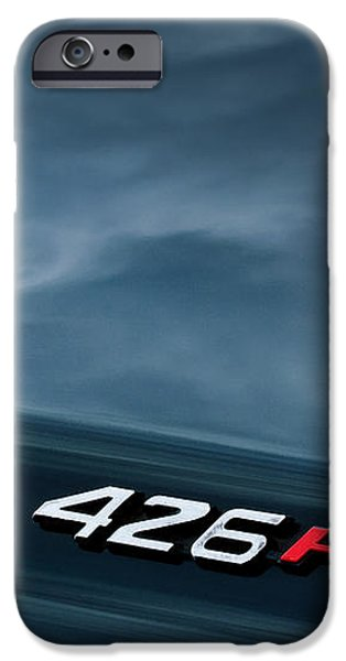 1971 Dodge Hemi Challenger RT 426 Hemi Emblem iPhone Case by Jill Reger