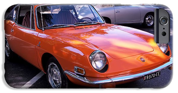 Automotive iPhone Cases - 1971 Fiat 850 Spider by Bertone iPhone Case by Rona Black