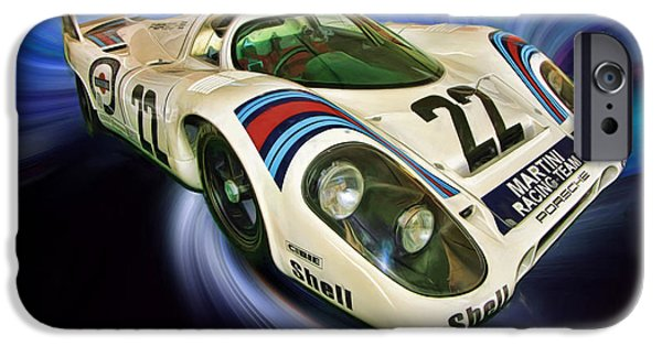 Porsche 917k iPhone Cases - 1971 Porsche 917K 24 Hour Of Lemans Winner iPhone Case by Blake Richards