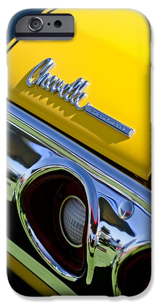 1972 iPhone Cases - 1972 Chevrolet Chevelle Taillight Emblem iPhone Case by Jill Reger
