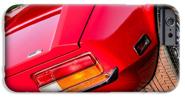 1972 iPhone Cases - 1972 DeTomaso Pantera Taillight Emblem iPhone Case by Jill Reger