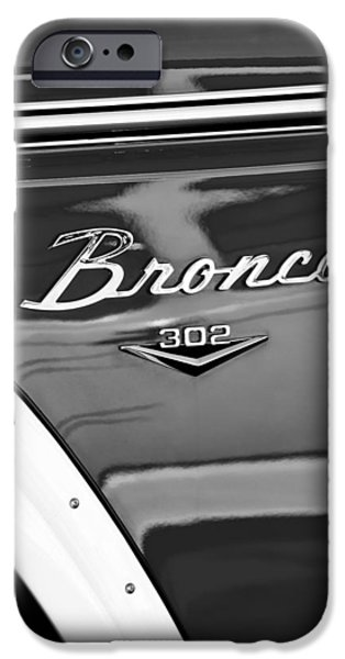 1972 iPhone Cases - 1972 Ford Bronco Emblem iPhone Case by Jill Reger