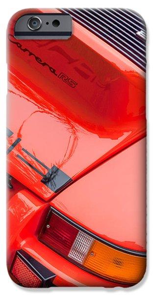 Lightweight iPhone Cases - 1973 Porsche 911 Carrera RS Lightweight Rear Emblem iPhone Case by Jill Reger
