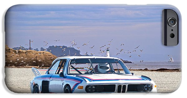 Circuit iPhone Cases - 1974 Bmw 3.5csl Gt iPhone Case by Dave Koontz