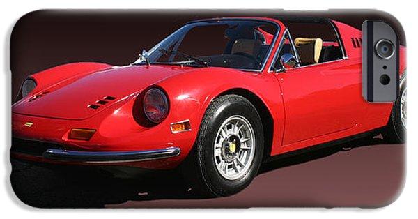 Model iPhone Cases - 1974 Ferrari Dino iPhone Case by Jack Pumphrey
