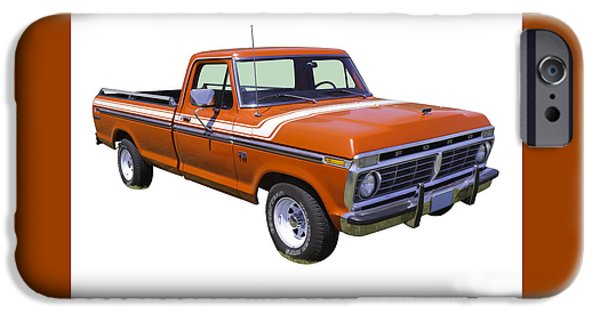 Ford Truck iPhone Cases - 1975 Ford F100 Explorer Pickup Truck iPhone Case by Keith Webber Jr